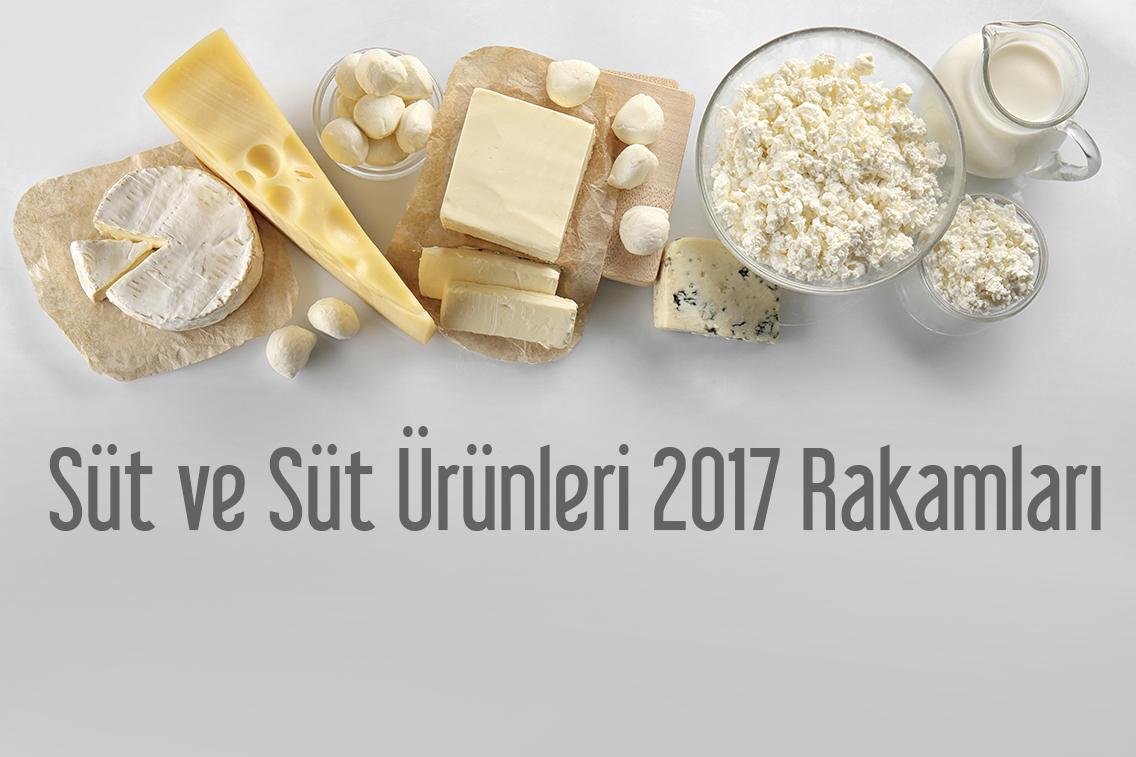 Süt ve süt ürünleri 2017 yılı rakamları belli oldu